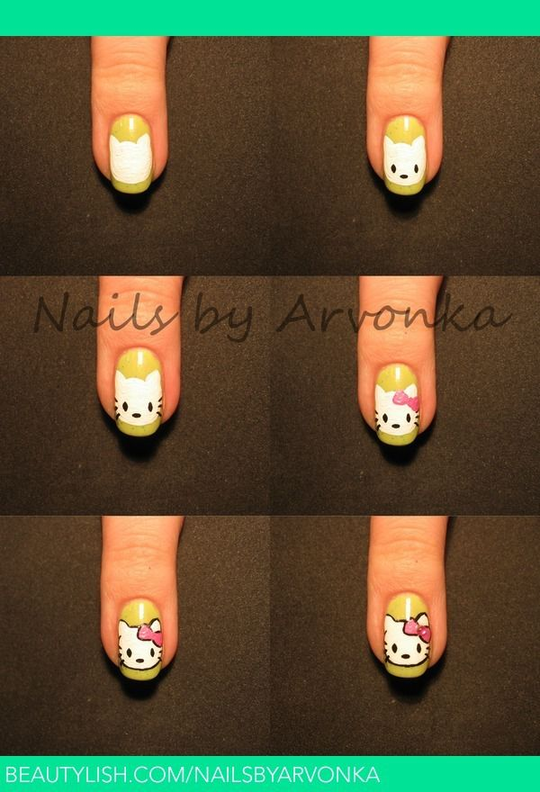 Nail art hello kitty pour d butant 2 tutoriels nailartangel - Nail art debutant ...