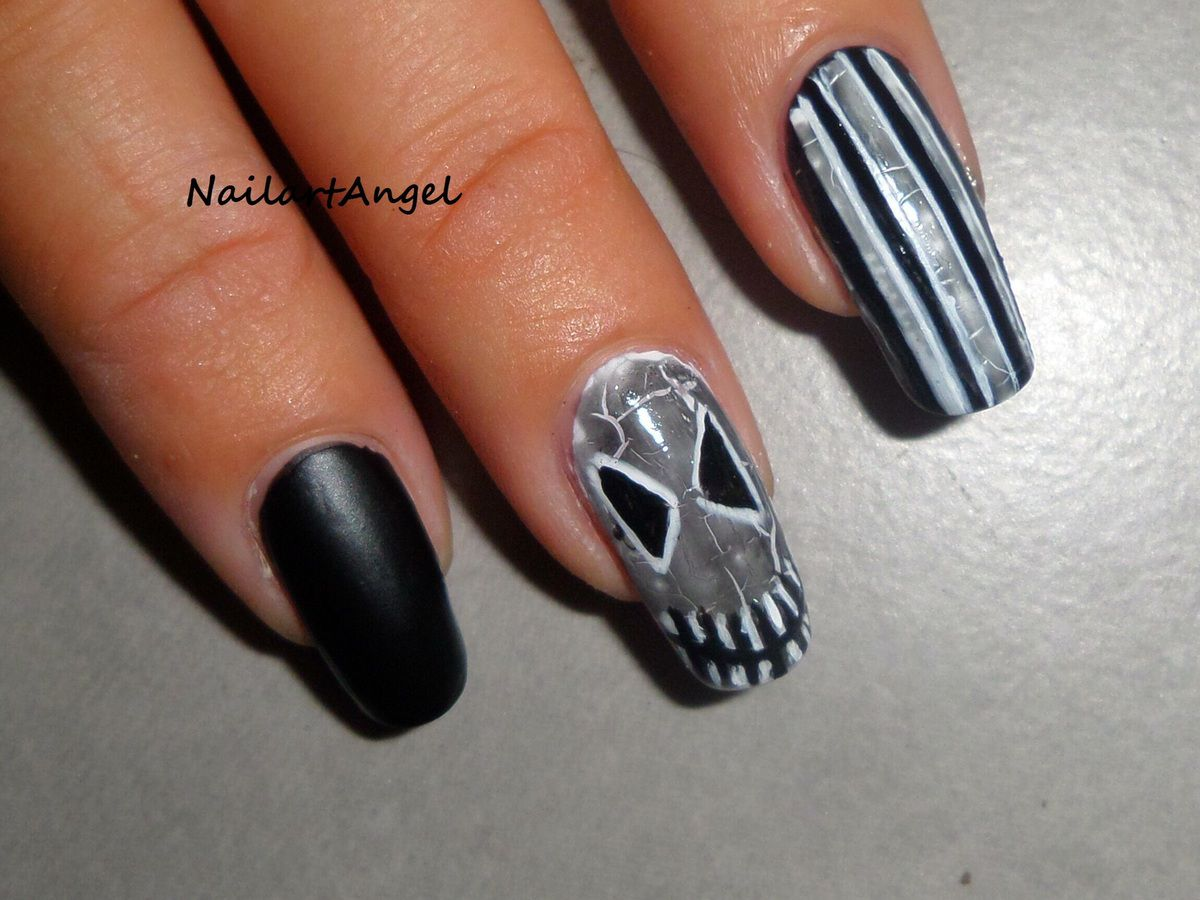 nail art halloween galerie nailartangel. Black Bedroom Furniture Sets. Home Design Ideas