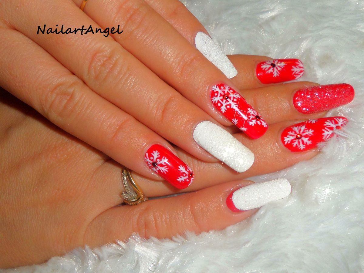 nail art hiver, nail art pas à pas, nail art noel, nail art flocon de neige, nailartangel