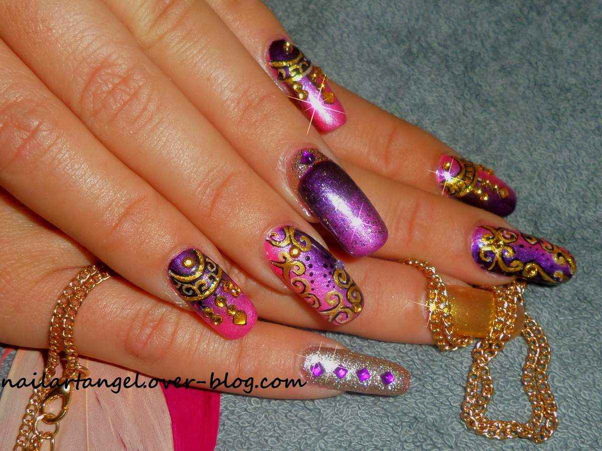 nail art Bollywood, voyageons en Inde mes anges.