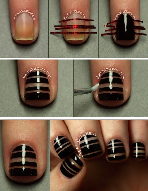 nail art striping tape, tutoriel image #nailartangel #nailart