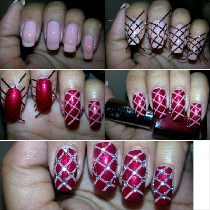 nail art effet capitonné, matelassé #nailart #capitonné#matelassé #nailartangel