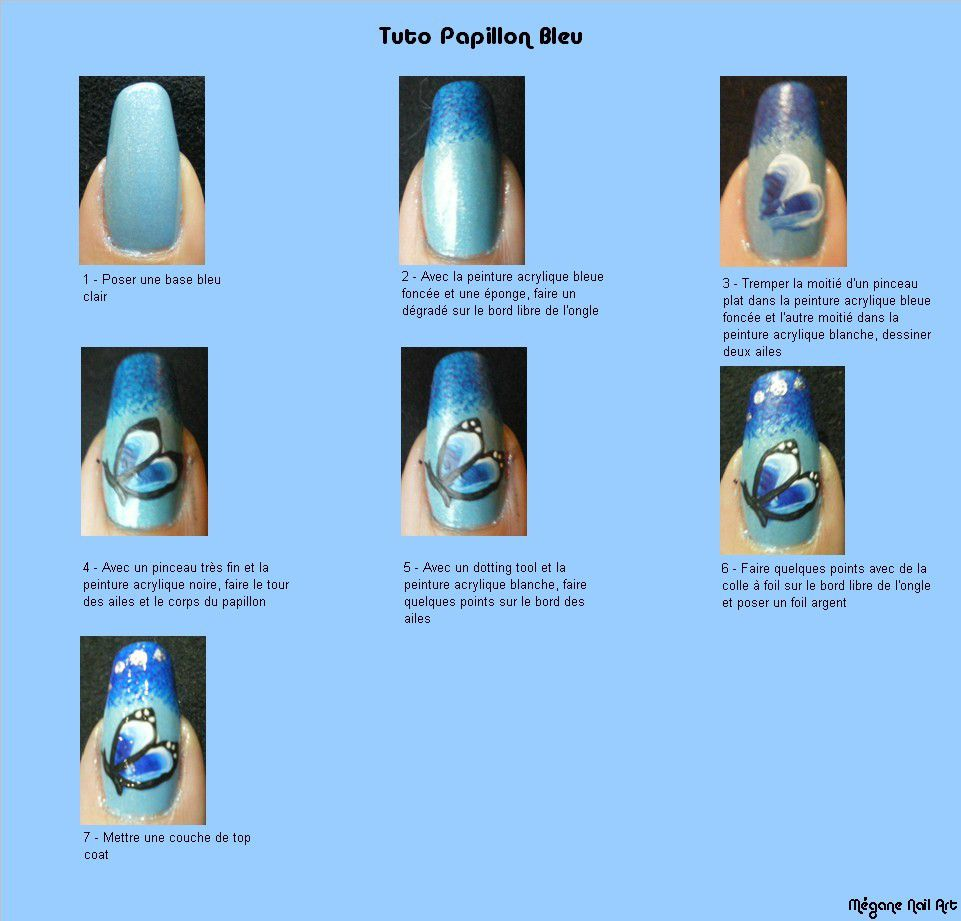 nail art pas à pas, nail art papillon, tutoriel image #nailartangel #nailart #papillon #tutoriel #tutorial