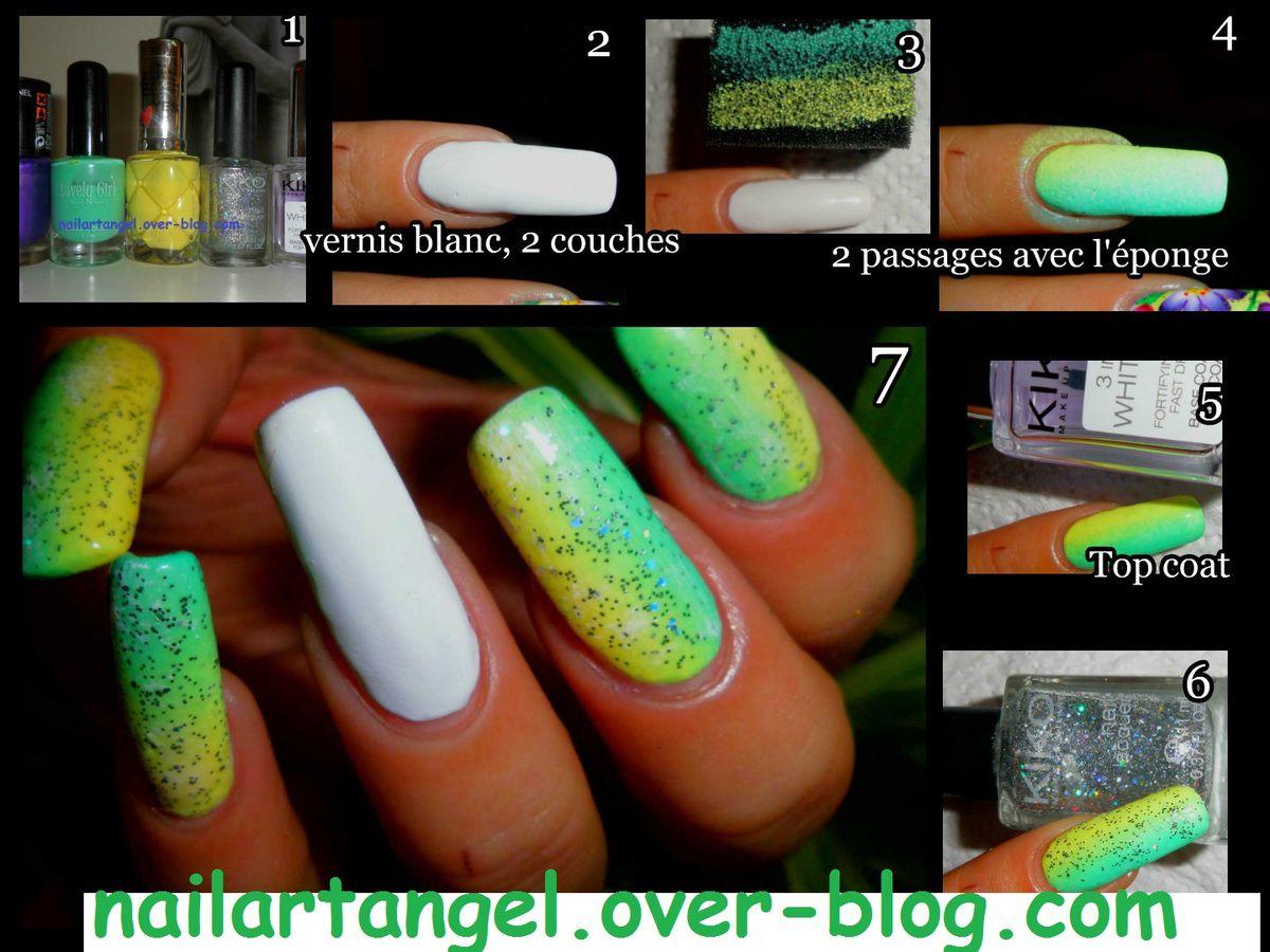 dégradé pour ongle, nail art dégradé, #tutoriel image, #nailart #printemps, #tutorial #onestroke