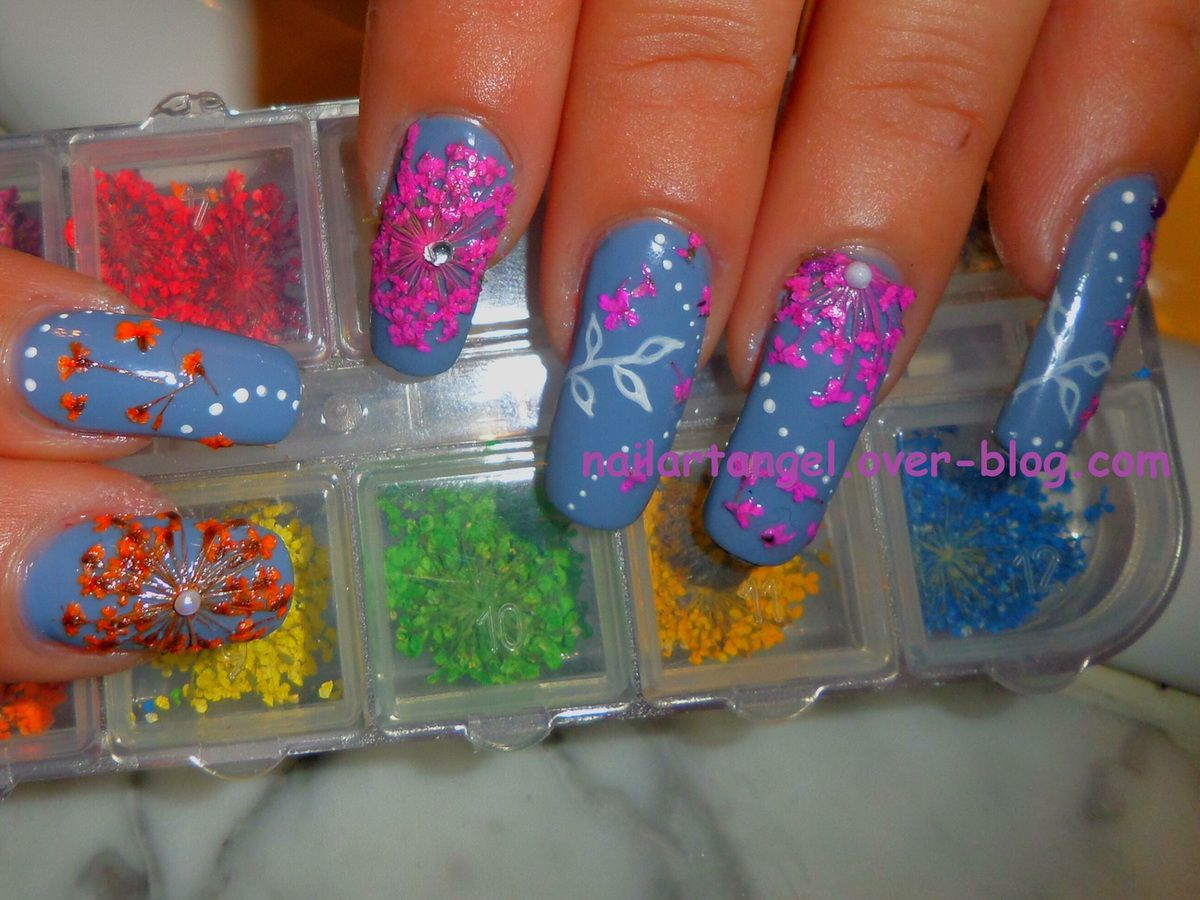nail art fleurs, nail art facile, nail art printemps