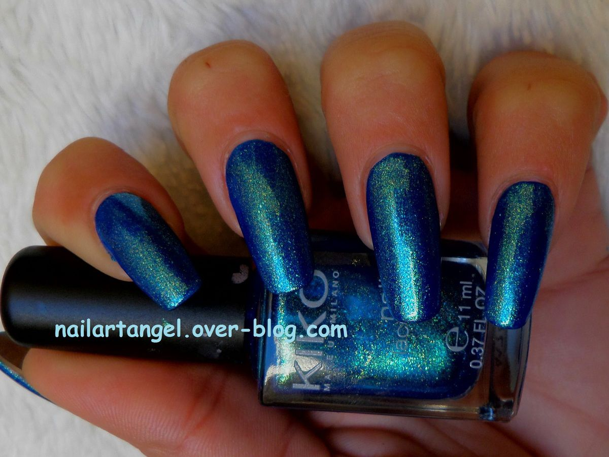 vernis kiko 530 pearly blue peacock manucure #nailartangel #manucure nailartangel vernis blue, vernis océan