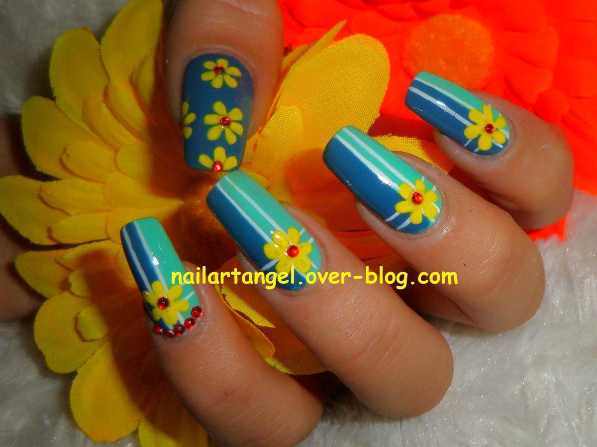 nail art facile, nail art fleurs, nail art pas à pas, nailartangel, #nailart, #nailartangel, nail art pas à pas, tutoriel image
