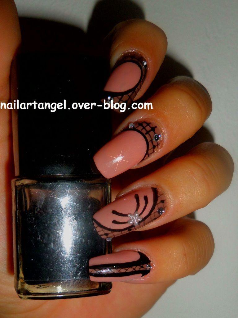 manucure élégante, nail art, nail art dentelle, nail art effet calque, nailartangel, #nailart, #nailartangel