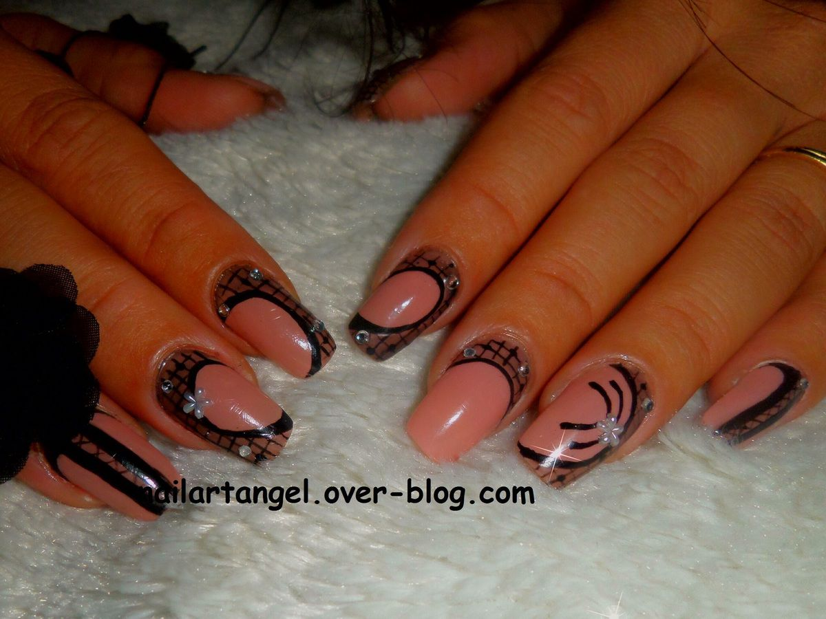 nail art dentelle, nail art pas à pas, nail art effet calque, nailartangel, nail art, #nailart, #nailartangel