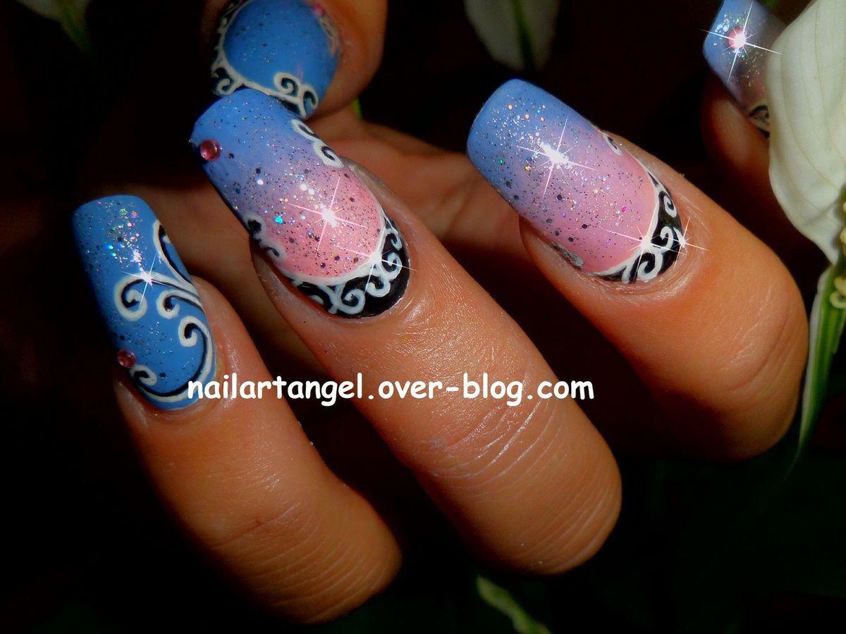 nail art arabesque, nail art orientale, nail art girly, nail art facile, nail art pas à pas, nailartange, manucure