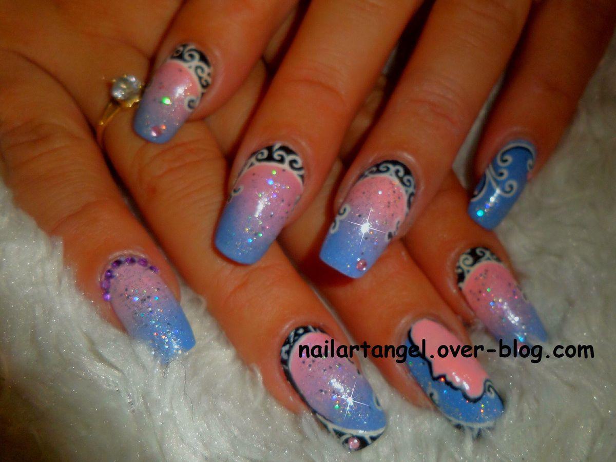nail art arabesque, nail art girly, nail art facile, nailartangel, nail art pas à pas, nail art orientale, nail art élégant