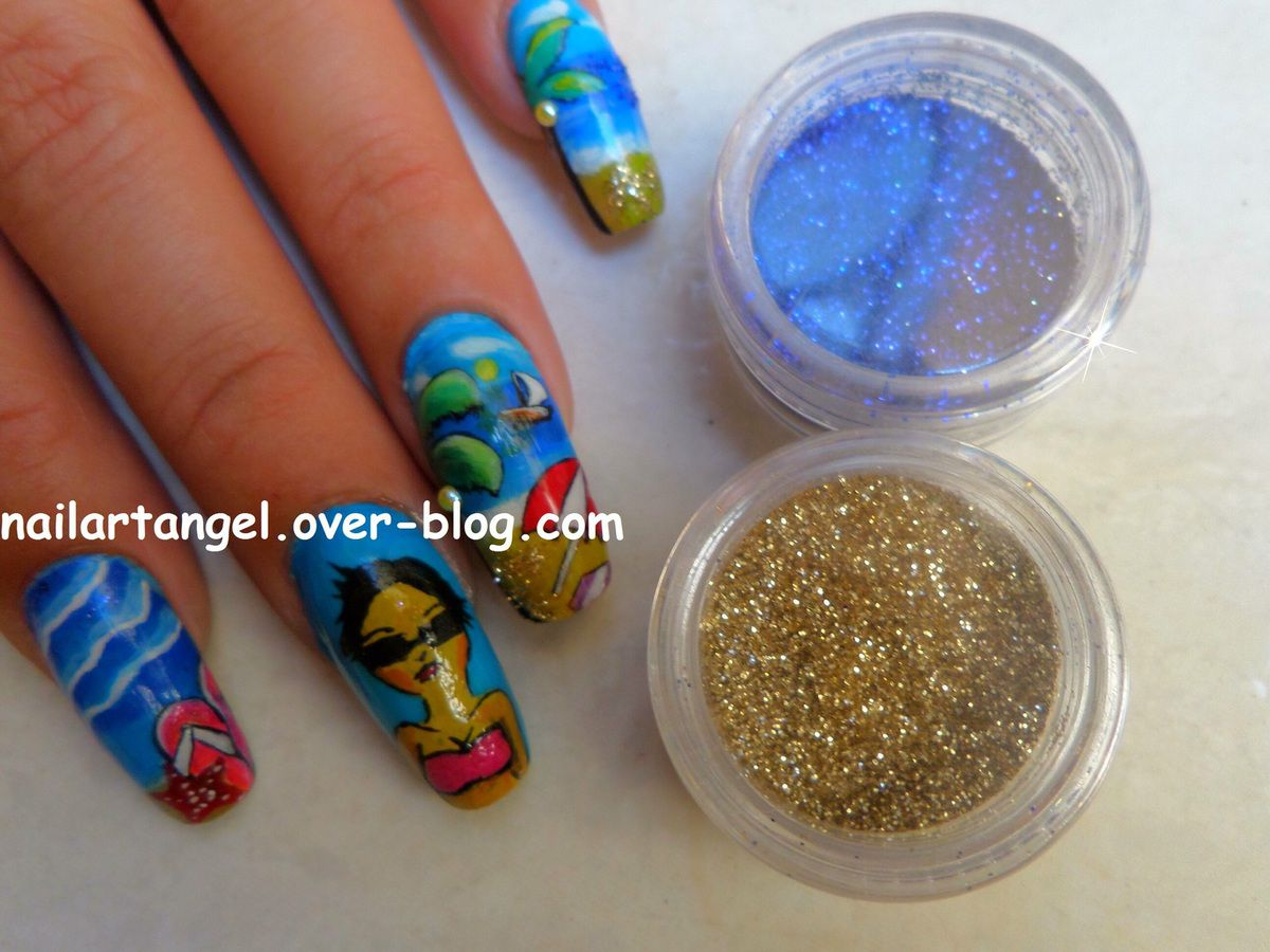 Nail art plage