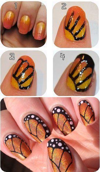 tutoriel nail art papillon, nail art papillon, nails butterfly, nailartangel