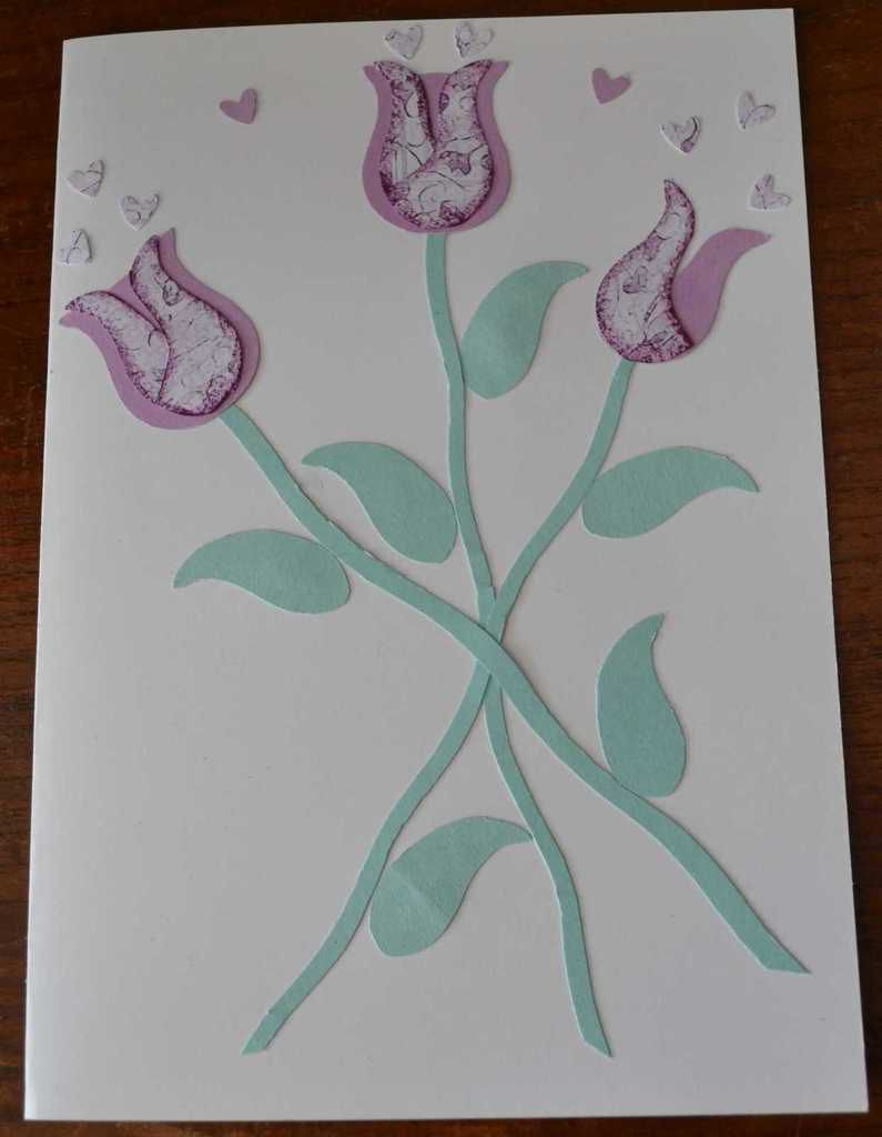 Détournement perforatrice Stampin' Up chouette : cartes tulipes