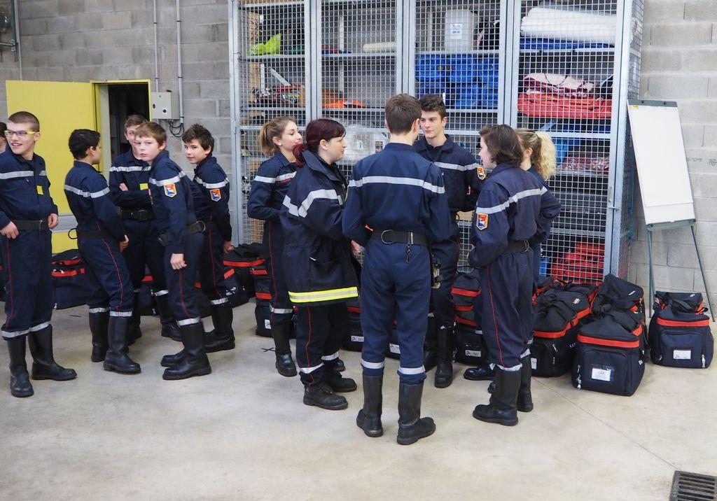 Formation Jeunes Sapeurs Pompiers à Bains les Bains