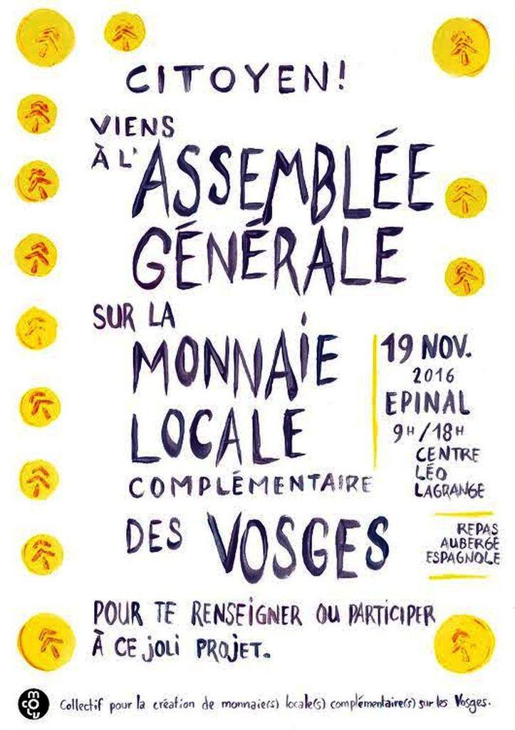 Assemblée Générale Monnaie Locale 19 novembre