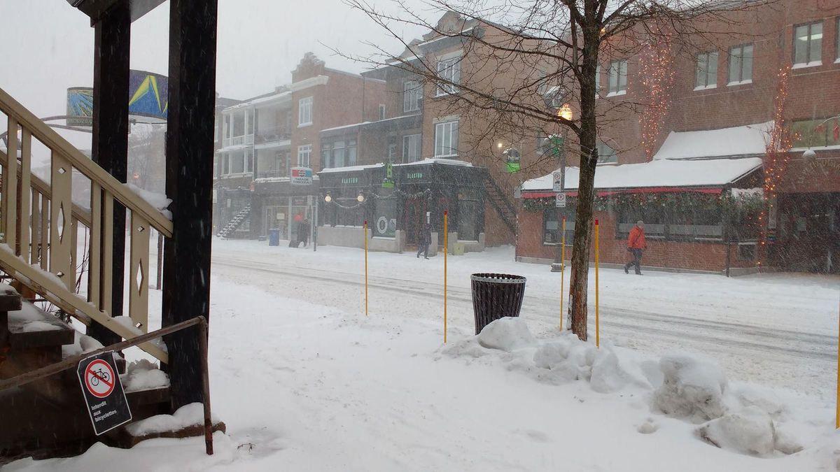 J'ai pris cette photo aujourd'hui, voici une de notre première tempête de neige!