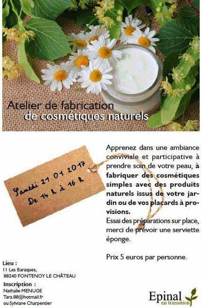 Stage atelier de fabrication de cosmétiques naturels