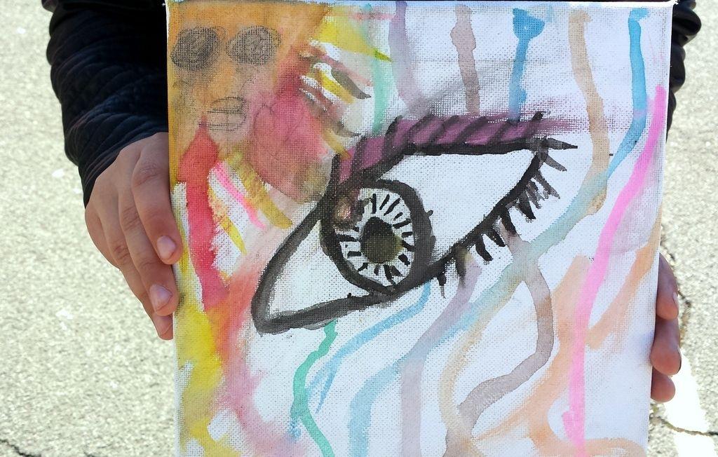 Peinture d'une élève de CE1
