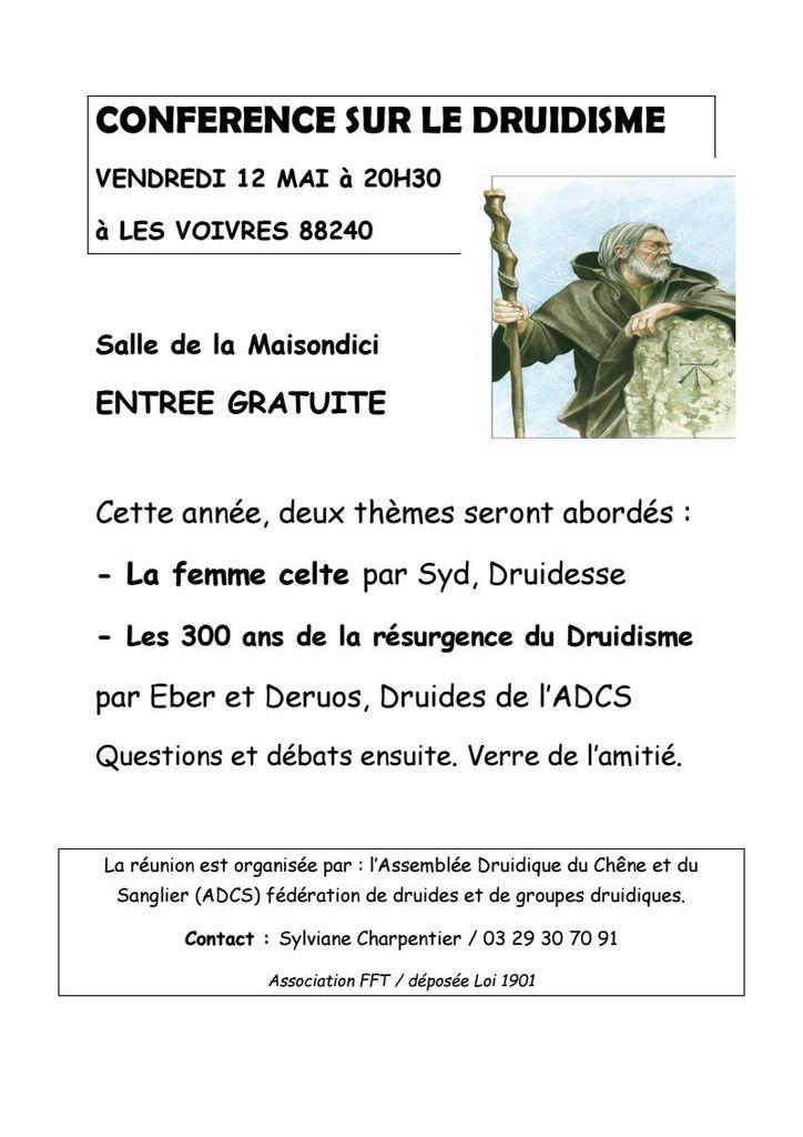 Conférence sur le druidisme à Les Voivres