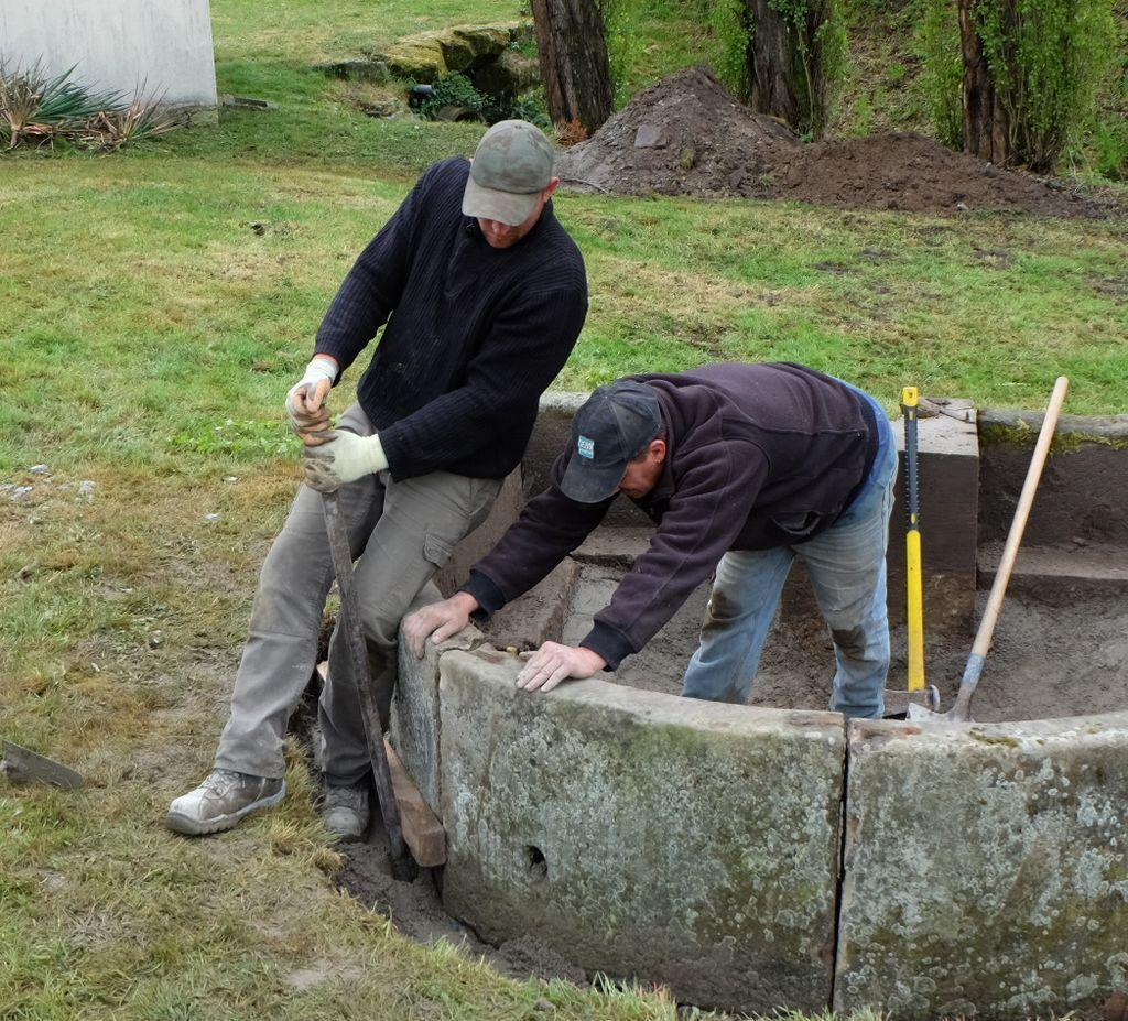 L'ancienne fontaine réaménagée