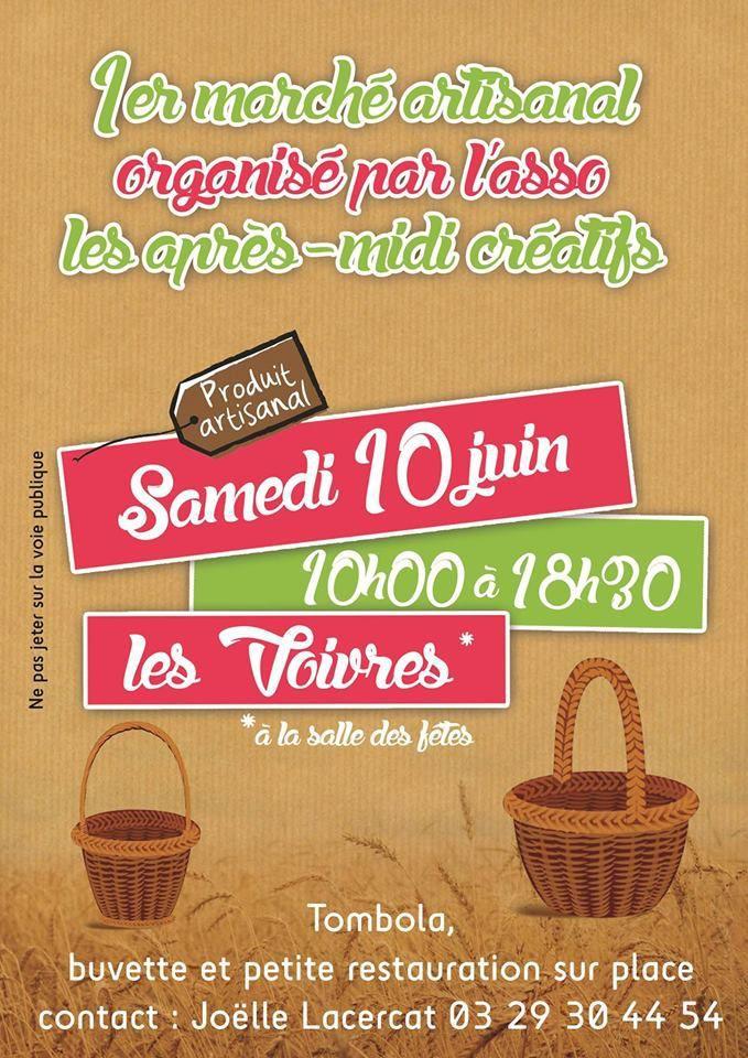 10 juin, Premier Marché Artisanal à Les Voivres