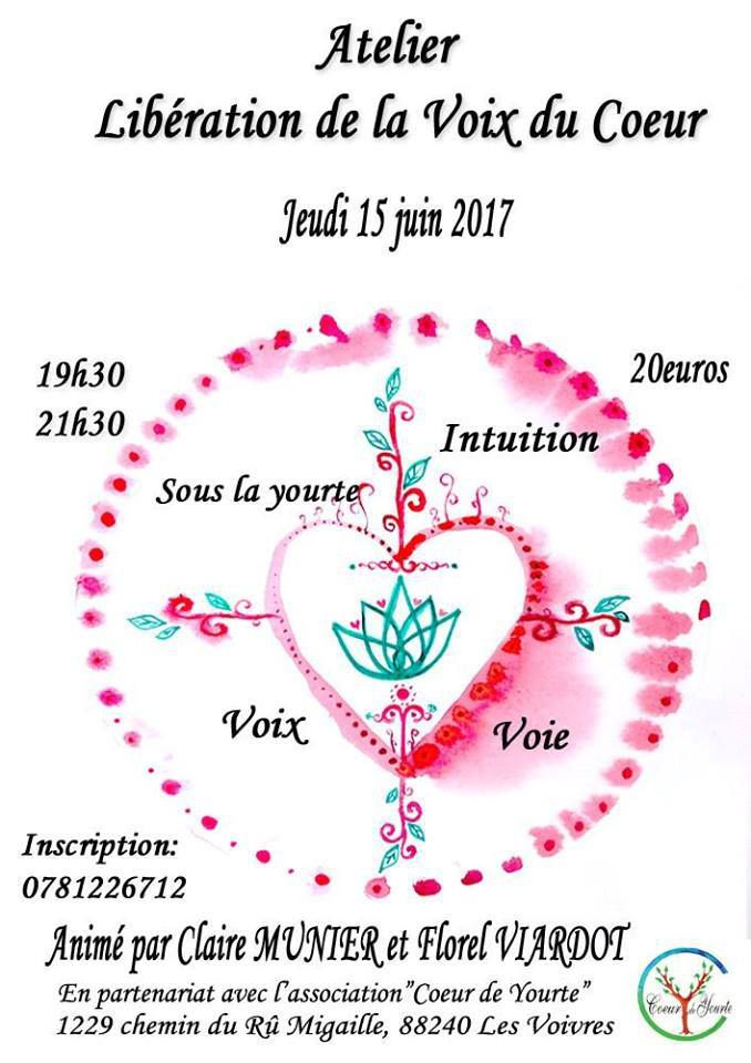 Association &quot&#x3B;Coeur de Yourte&quot&#x3B;‎Atelier Voix