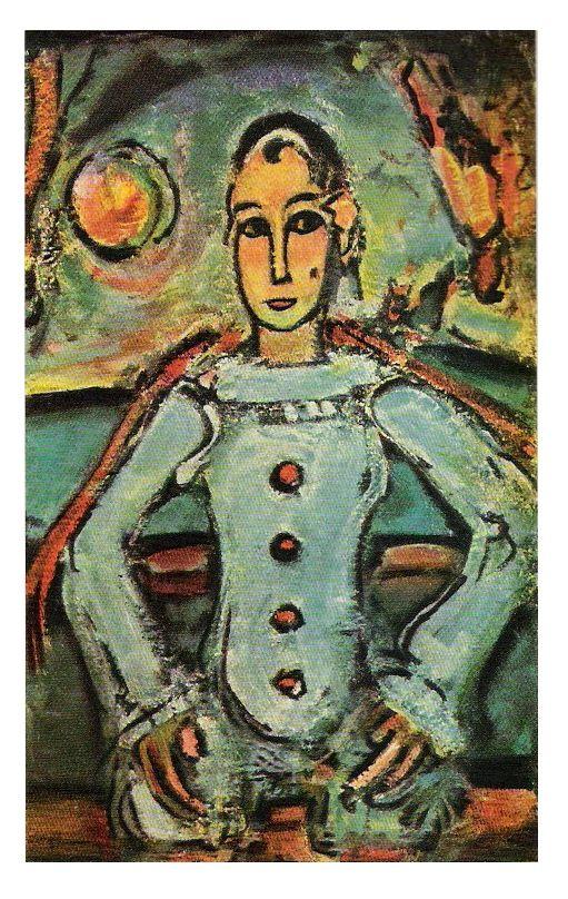 Georges ROUAULT, Pierrot aristocrate, en noir et blanc dans cette édition