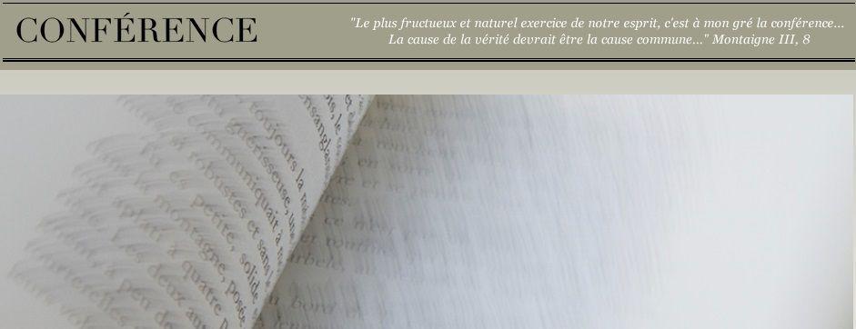 Revue Conférence - Extraits - I