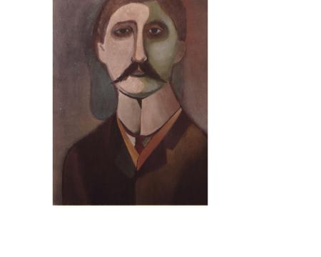 Richard Lindner, portrait de Proust,1950.