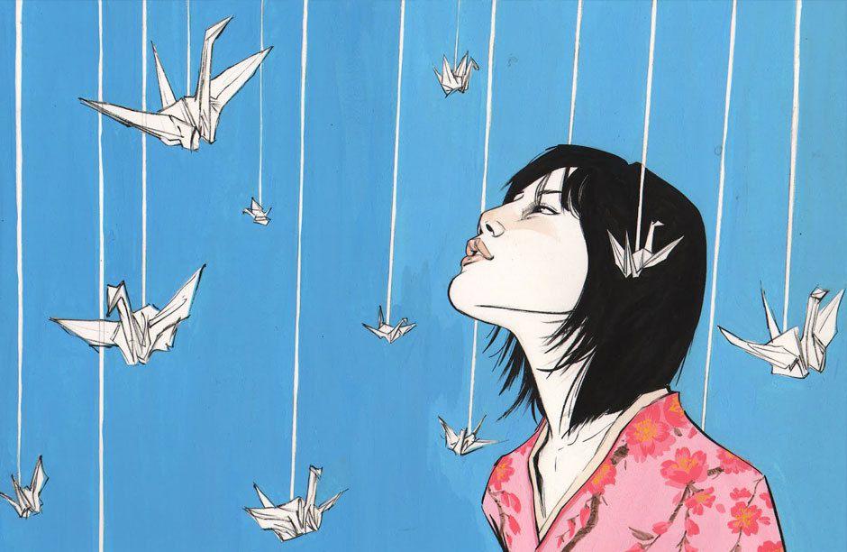 """Portrait of Sadako Sasaki"", artwork by Joëlle Jones"