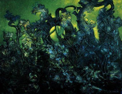 """Max Ernst, """" La dernière forêt"""", 1960/1970, Musée d'Art Moderne de Saint-Etienne"""
