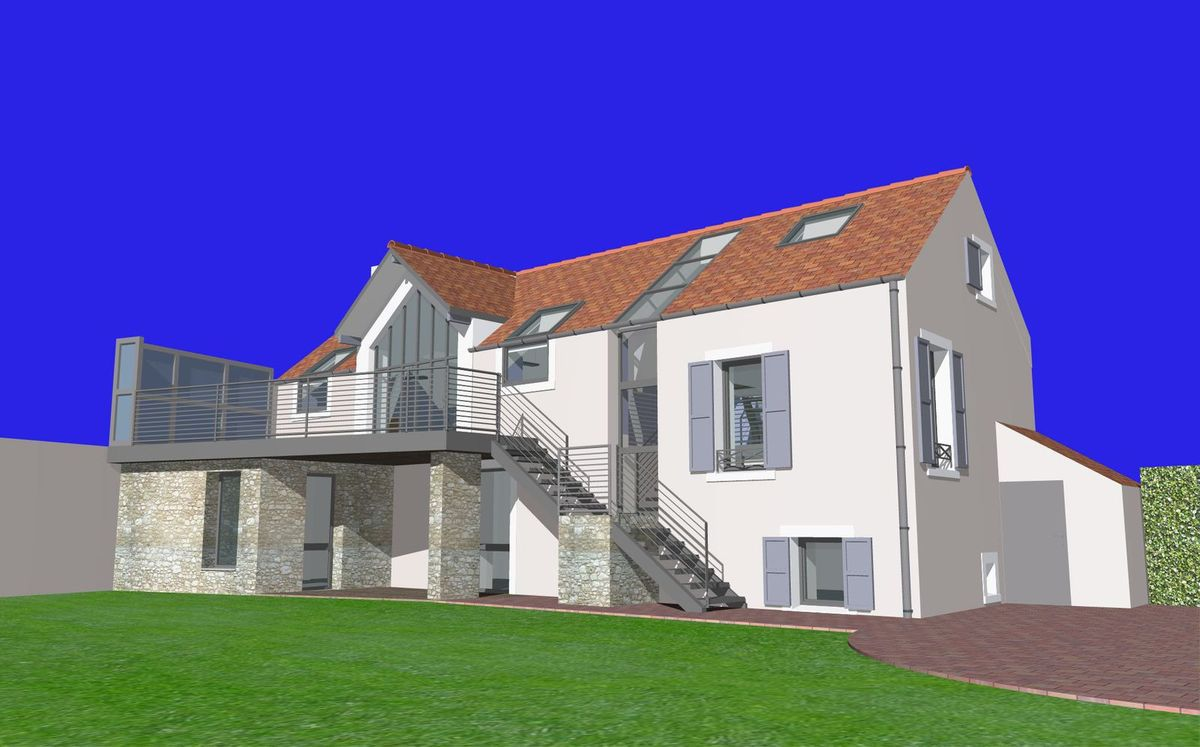 R novation extension d 39 une maison dans le loiret 45 for Extension maison 25m2