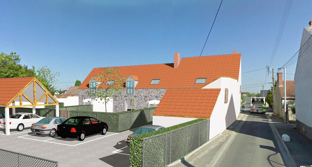 Am nagement de 3 logements dans une ferme pascal goix for Amenagement jardin 80m2