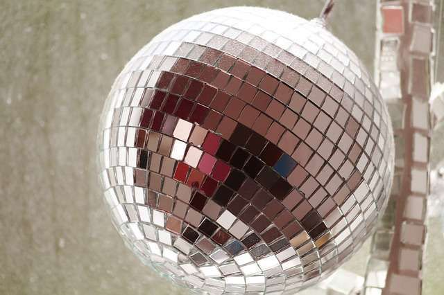 Disco balls are among signature elements of 70s themed parties