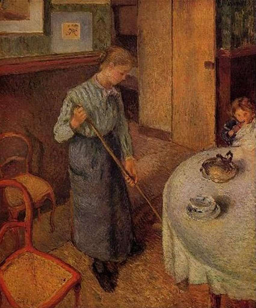 The Little Country Maid by Camille Pissarro