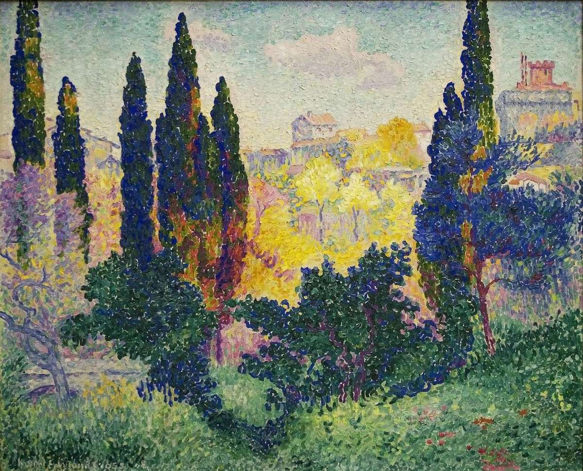 Cypresses in Cagnes, 1908