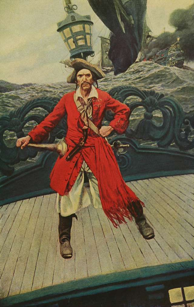 Howard Pyle, father of American illustration, set standards for portraying the pirates