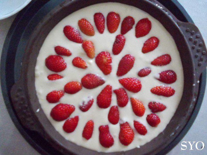 Gâteau moelleux aux Fraises de Thermomix, au Petit Bistro