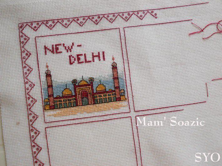SAL DMC  Tour du Monde , New-Delhi,  brodé