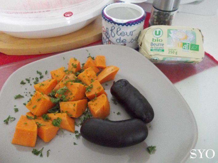 Les Potins: Patates douces, Boudins créoles ou saucisses fraîches, conserves suite