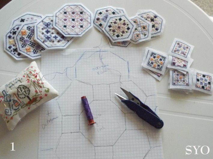 Quaker Ball en Points Fantaisie, Tutoriel de montage