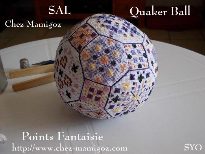 Quaker Ball en Points Fantaisie, Tutoriel de montage : 2ème partie