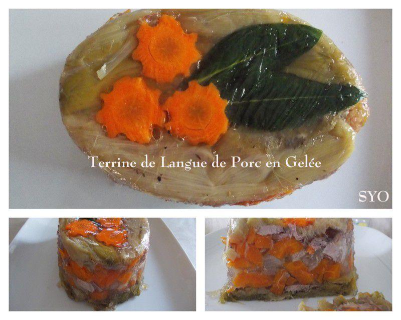 Terrine de Langue de Porc et ses légumes en Gelée