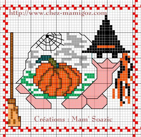 Plaid aux Tortues :  Tortue Halloween pour le Carnaval