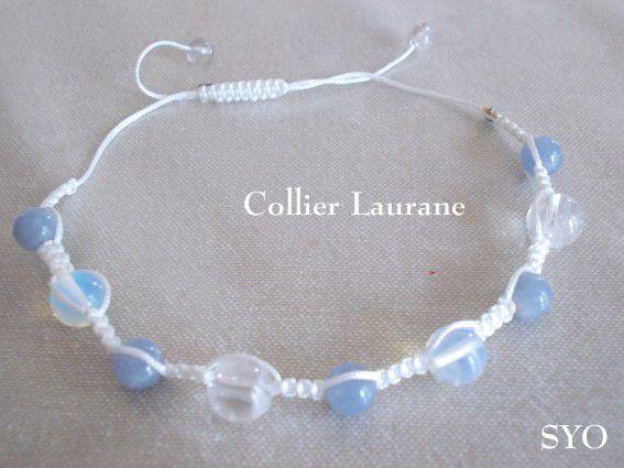 Un collier spécial Pierre de Lune et autres, pour ma Laurane