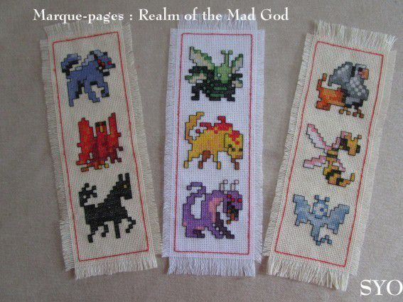 3 ème Marque pages à broder : Realm of the Mad God