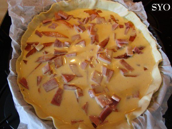 Quiche au Melon caramélisé et Jambon grillé de Mamigoz