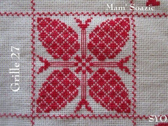 SAL : Plaid Broderie Rouge... Grille  27 H/2