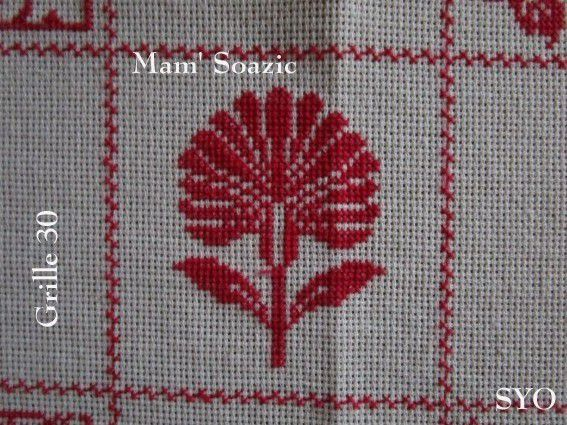 SAL : Plaid Broderie Rouge... Grille 30/G5